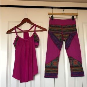 Two piece Gianni Bini Workout outfit